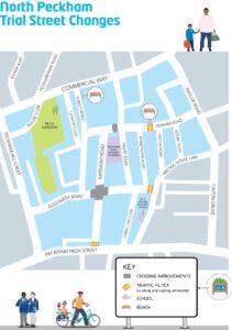 North Peckham low traffic neighbourhood map